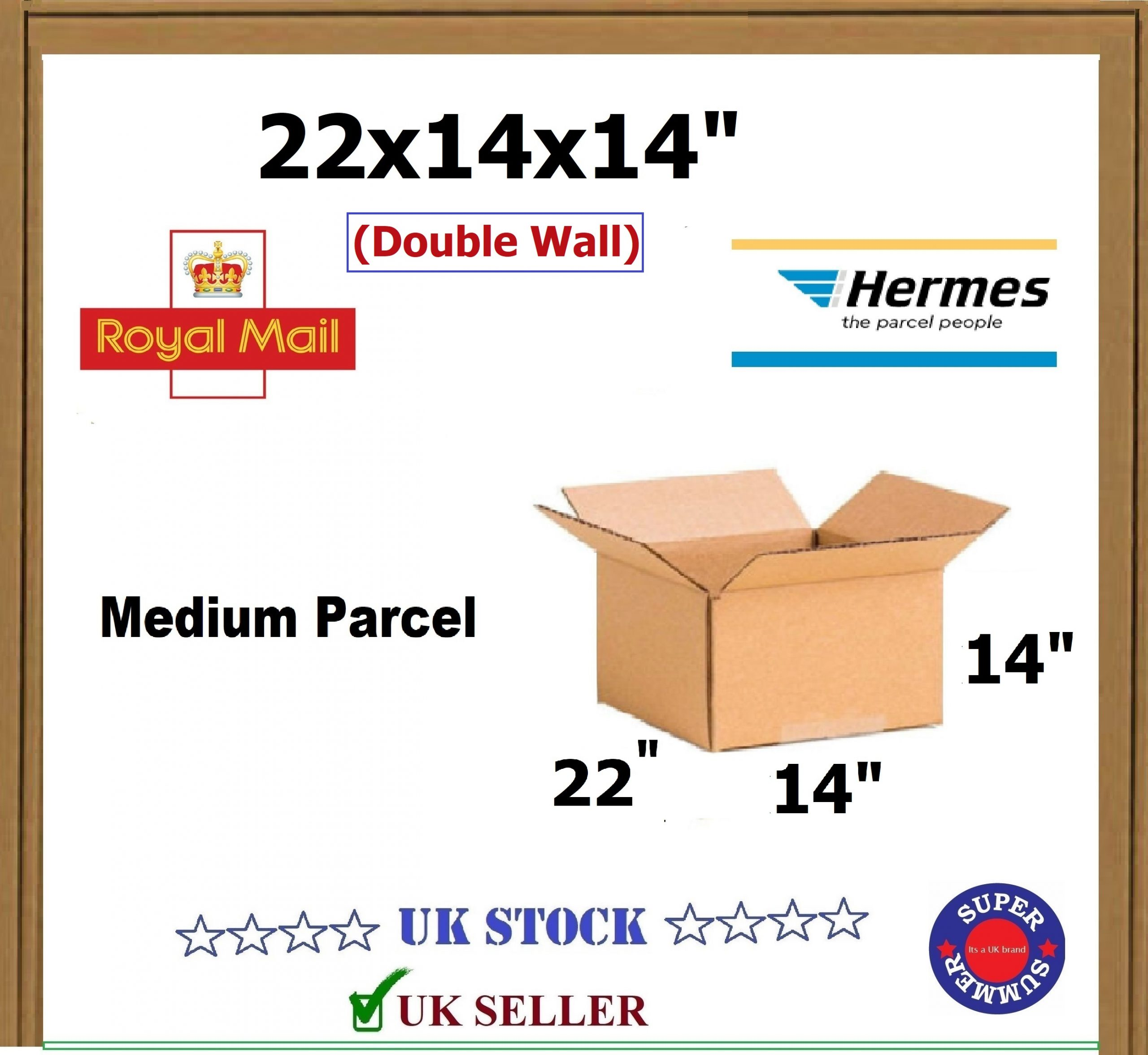 """DOUBLE WALL *DEAL* 90 LARGE D//W CARDBOARD MAILING DISPATCH BOXES 22x14x14/"""" DW"""